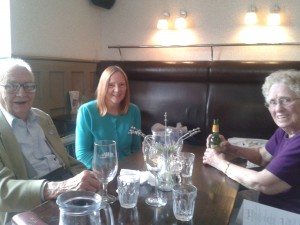 'Summer lunch - Joy & happiness, including 2 of our oldest members.' taken by D A Codling